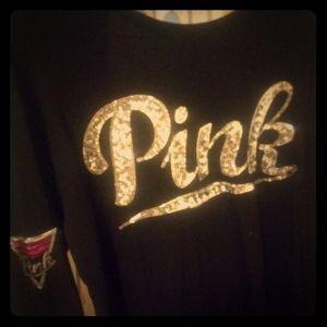 Long sleeve Pink bling shirt
